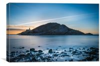 Sunrise at Mumbles lighthouse., Canvas Print