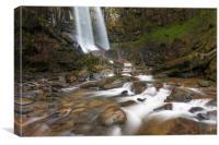 Melincourt waterfall., Canvas Print