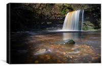 Sgwd Gwladus – the Lady Falls in South Wales., Canvas Print
