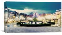 Oslo Christmas Market, Canvas Print