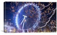 London Eye at Winter                              , Canvas Print