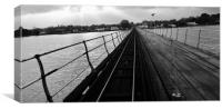 Hythe Pier One December, Canvas Print