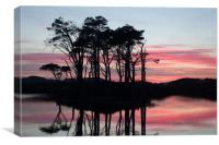 Reflection in the Highlands, Canvas Print