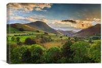 Cumbria's Braithwaite, Canvas Print