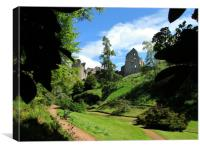 Kildrummy castle and gardens                    , Canvas Print