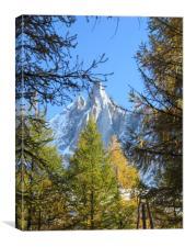 The Dru Chamonix French Alps                    , Canvas Print