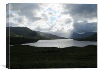 Loch Arklet loch Lomond national park             , Canvas Print