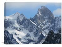 Aiguilles du plan Chamonix French Alps            , Canvas Print