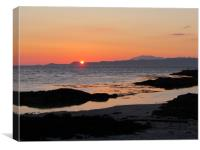 Skye sunset                            , Canvas Print