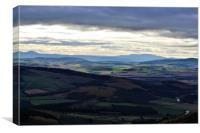 Beautiful Aberdeenshire from Bennachie., Canvas Print