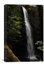 The Plodda Falls Glen Affric, Canvas Print