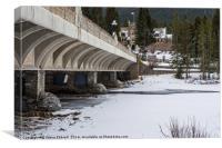 Banff Avenue Bridge, Canvas Print