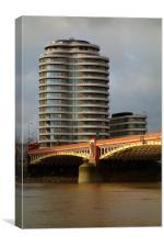 Riverwalk on Thames , Canvas Print