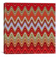 Red Illusion, Canvas Print