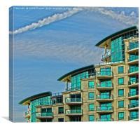 St George Wharf Development, Canvas Print