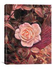 Rose Romance, Canvas Print