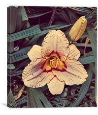 Fauvist flower, Canvas Print