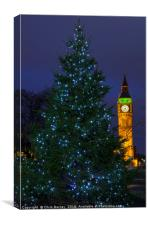 Christmas in London, Canvas Print