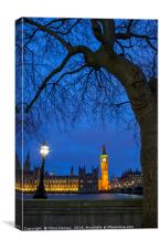 Houses of Parliament in London, Canvas Print