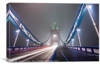 Foggy Tower Bridge, Canvas Print