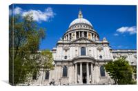 St. Pauls Cathedral in London, Canvas Print