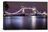 Tower Bridge in London, Canvas Print