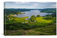 View of Lake Windermere in the Lake District, Canvas Print