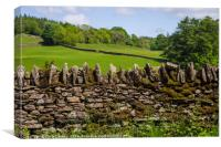 Countryside View in Cumbria, Canvas Print