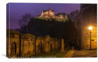 View of Edinburgh Castle, Canvas Print