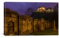View of Edinburgh Castle in Scotland, Canvas Print