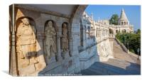 Fisherman's Bastion in Budapest, Canvas Print