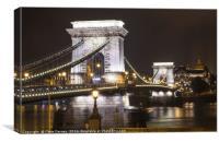 Chain Bridge in Budapest, Canvas Print