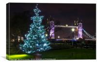 Tower Bridge at Christmas, Canvas Print