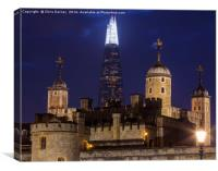 Shard and the Tower of London, Canvas Print