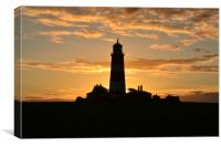 Sunset at Happisburgh Lighhouse, Canvas Print