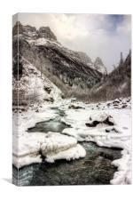 Freeze-up at Dan Creek 2, Canvas Print