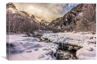 Freeze-up at Dan Creek, Alaska, Canvas Print