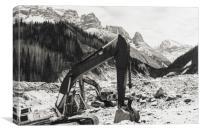 Excavators, Canvas Print