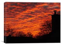 Sunset in Mirfield, Canvas Print