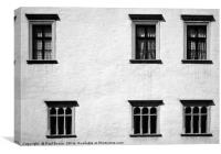 Windows in uneven rows, Canvas Print