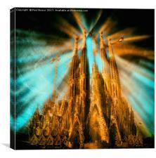 Sagrada Família, Canvas Print