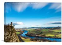 Winter Sun in Perthshire, Canvas Print