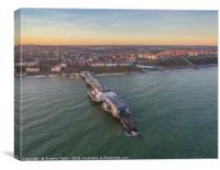 Cromer Pier Aerial View , Canvas Print