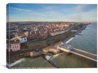 Cromer Promenade Aerial View, Canvas Print