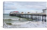 Cromer Pier surf's up!, Canvas Print