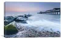 Southwold Pier, Suffolk at sunrise, Canvas Print