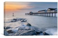 Southwold Pier in the morning light, Canvas Print