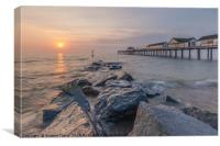 Sunrise over the sea, Southwold, Suffolk , Canvas Print