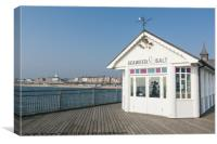 Seaweed & Salt cafe Southwold Pier, Suffolk, Canvas Print