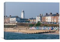 Southwold Promenade viewed from the Pier , Canvas Print